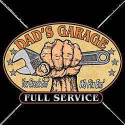 Sweat biker dad garage