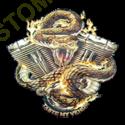 Sweat biker motor snake