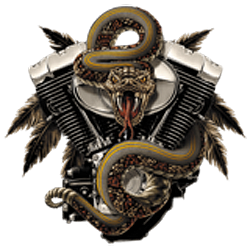 Sweat biker rattlesnake
