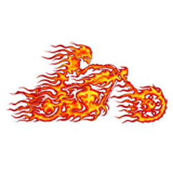 Sweat biker ghost rider