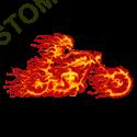 Sweat biker ghost rider