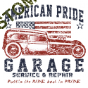 Sweat biker american pride hot rod