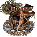 Sweat biker live the legend babe