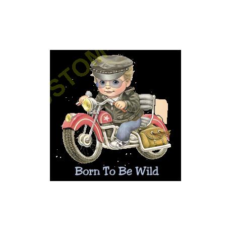 T Shirt enfant boy, born to be wild