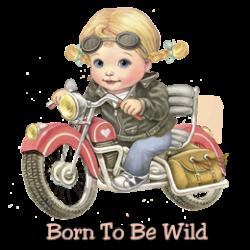 T Shirt enfant girl, born to be wild