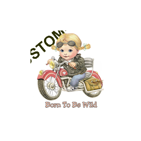 T Shirt enfant girl, born to be wild
