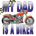 T Shirt enfant my dad is a biker
