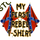 T Shirt enfant my first rebel flag