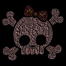 T Shirt enfant skull crossbones strass