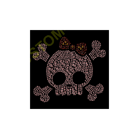 T Shirt enfant skull crossbones strass
