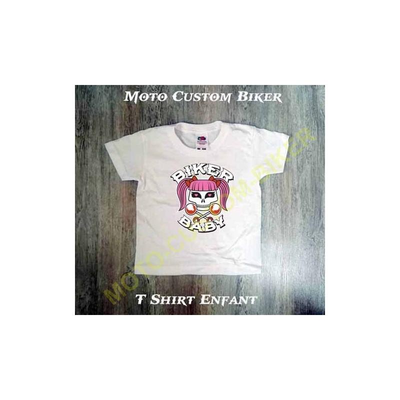 T Shirt Enfant Biker Baby Motocustombiker