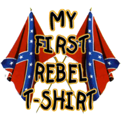 Body baby biker my first rebel flag