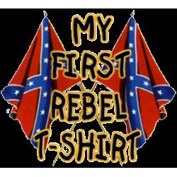 Body baby biker my first rebel flag