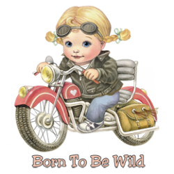 Body girl baby biker born to be wild