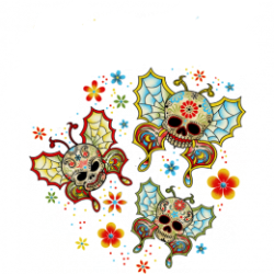 Body baby biker skull butterfly