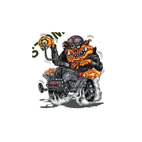 Sweat zippé biker hot rod pig