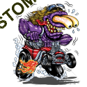 Sweat zippé biker purple monster red hot rod