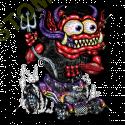 Sweat zippé biker red monster purple hot rod