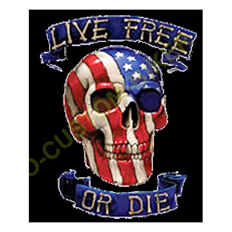 Sweat zippé biker live free or die
