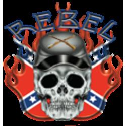 Sweat zippé biker rebel confédéré