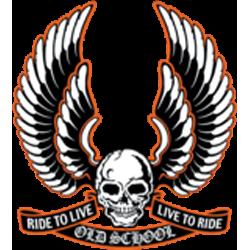 Sweat zippé biker old skool