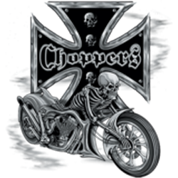 Sweat zippé biker bike and skull
