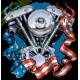 Sweat zippé biker moteur evo