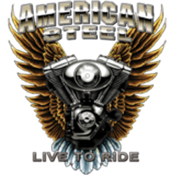 Sweat zippé biker american steel