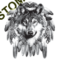 Sweat zippé biker tête de loup