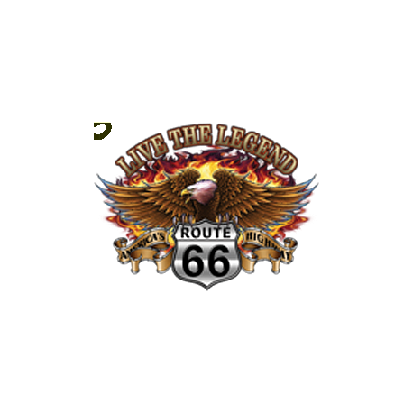 Sweat zippé biker live the legend eagle