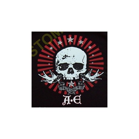 Sweat zippé biker A.E skull