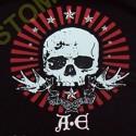 Sweat zippé biker A.E skull