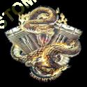 Sweat zippé biker motor snake