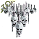 Sweat zippé biker skull chain