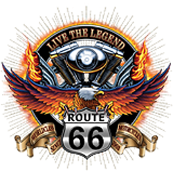 Sweat zippé biker live the legend road 66