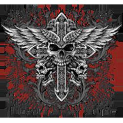 Sweat zippé biker angel cross