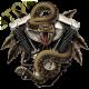 Sweat zippé biker rattlesnake