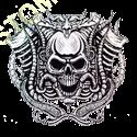 Sweat zippé biker motor skull