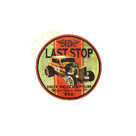 Sweat zippé biker last stop hot rod
