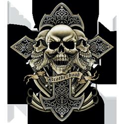 Sweat zippé biker brotherhood