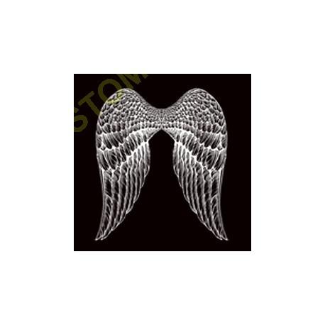 Sweat zippé biker ailes d'ange
