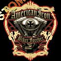 Sweat zippé biker american iron biker