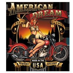 Sweat zippé biker american dream babe