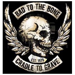 Sweat zippé biker bad to the bone