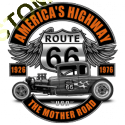Sweat zippé biker hot rod route 66