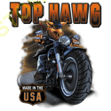 Sweat zippé biker top hawg