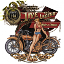Sweat zippé biker live the legend babe