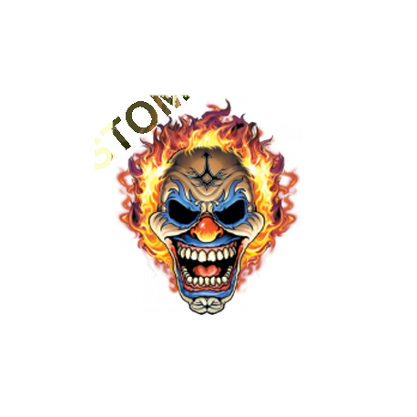 Sweat zippé biker clown flaming