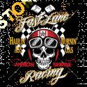 Sweat zippé biker fast line racing