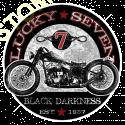 Sweat capuche biker lucky seven